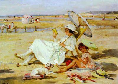 Dupuy, Paul Michel (1869-1949) Marée basse, plage de Villeria