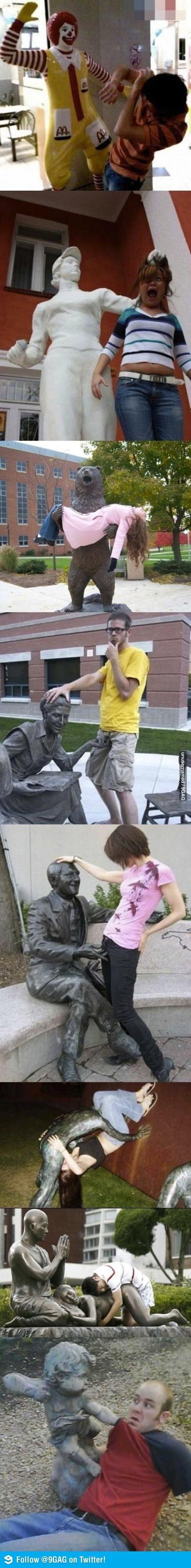 méfiez-vous des statues qui dorment...