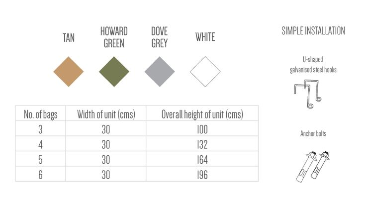 Vertical Gardens - our products. Choose a colour and an installation option, length and how many you would like in a row #verticalgarden #greenwall #plantbag #green #garden