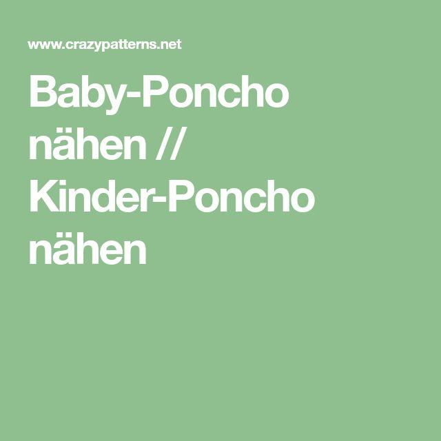 Baby-Poncho nähen // Kinder-Poncho nähen
