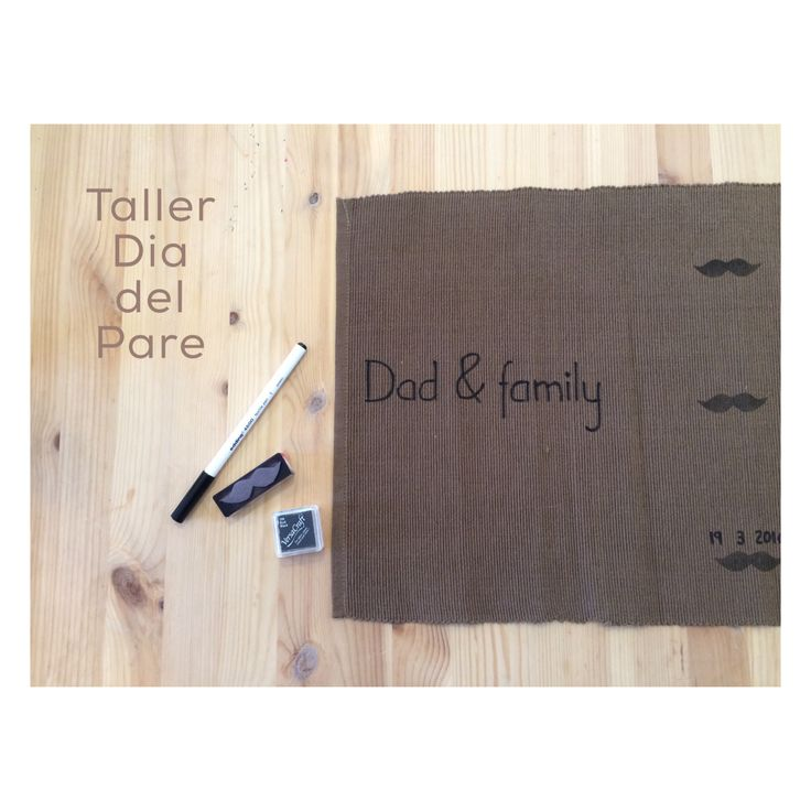 Family workshop   Father's Day   stamp your individual #stamp #fatherday #textile #ink #workshop #individual #kids #cooking