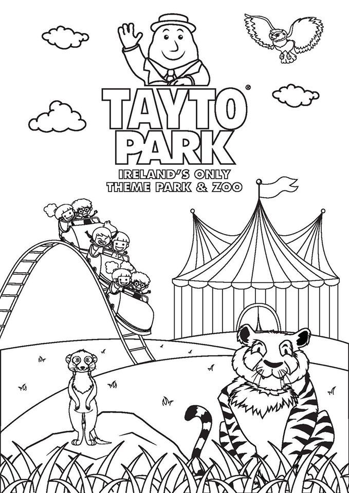 Tayto Park Coloring Page Coloring Pages Theme Park Oreland