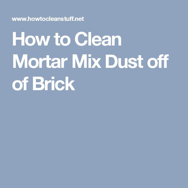 how to clean soot off brick and mortar