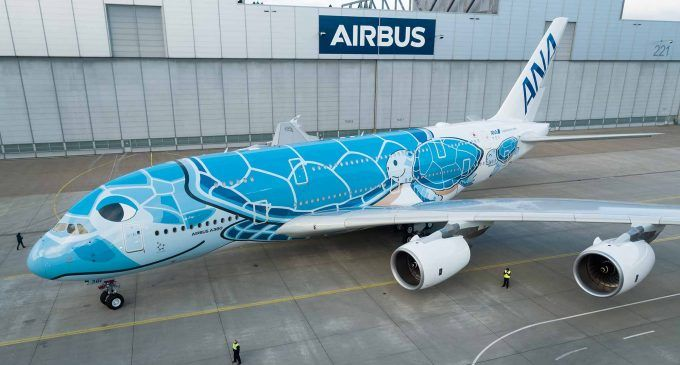 First Ana A380 Leaves Paintshop Photos Airways Magazine Airbus A380 Airbus Aviation
