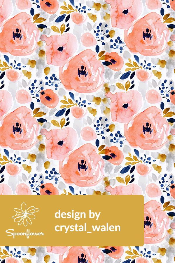 Genevieve Floral By Crystal Walen