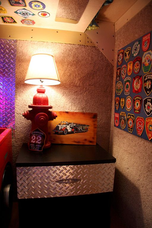 Fire Hydrant Lamp Made Out Of A Ceramic Lawn Ornament. Firefighter BedroomLawn  ...