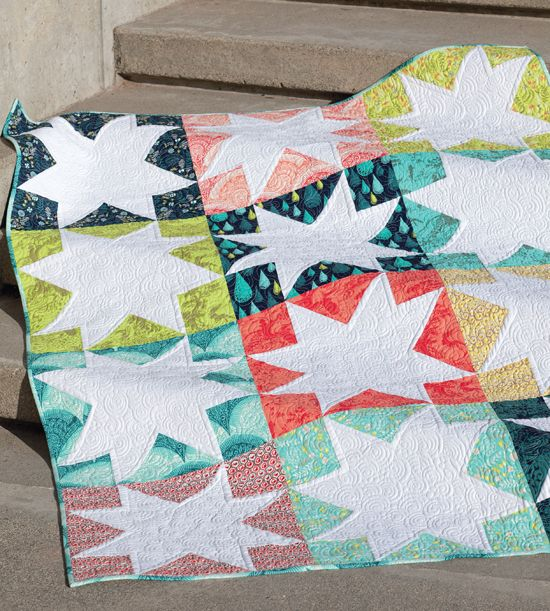 White Stars quilt from Skip the Borders by Julie Herman