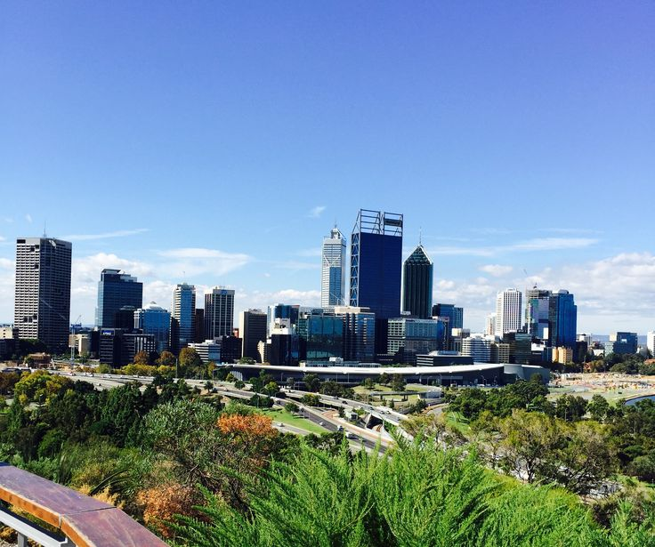 View of Perth's Central Business District from Kings Park & Botanic Garden.