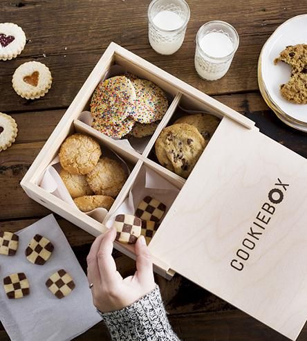 Cookiebox Wood Cookie Carrier | Port your famous homemade goodies in a box that's just as spec... | Cookie Jars