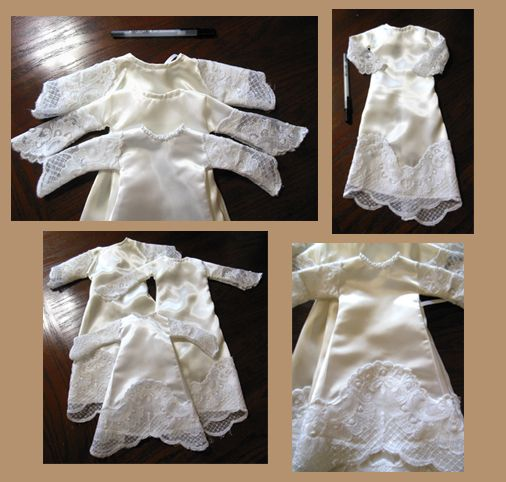 Nice Infant burial gowns made from donated wedding dresses Delicate and perfect