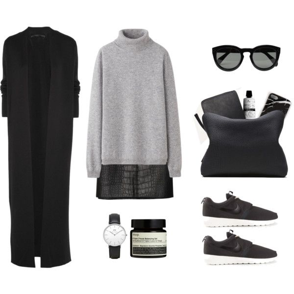 Casual attire by grace-mxo on Polyvore featuring moda, Haider Ackermann, Uniqlo, Alexander Wang, NIKE, 3.1 Phillip Lim, CÉLINE and Aesop