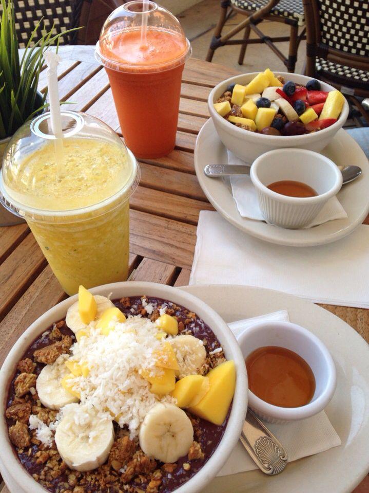 Acai bowls at SoFi café, Miami Beach.
