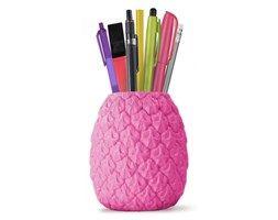 Stojak na długopisy Seriously Tropical Penpot MUSTARD, różowy