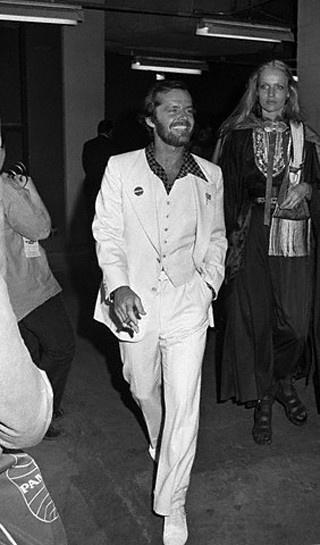 Jack Nicholson rockin the white suit