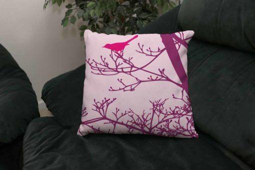 Bird Branch Throw Pillows