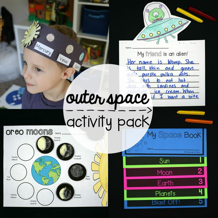 I love geeking out on outer space activities!You too?! These 20space activities will have young astronauts exploring, learning and smiling for days.  Thescience, math and literacy activities have so much variety that the print and play pack is perfect for kids from preschool to second grade.
