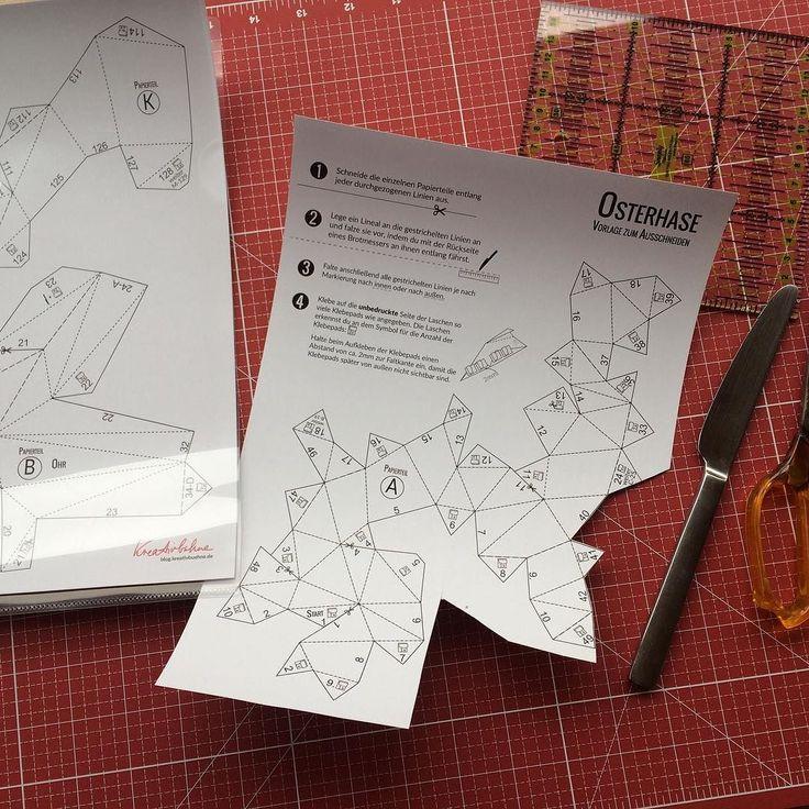 Ich habe mich auch mal an den Osterhasen gewagt! Zwei Stunden später hat es auch tatsächlich geklappt ;) ich bin seeeehr zufrieden  Fotos im angesprühtem Zustand zeige ich euch dann morgen! Habt einen tollen Abend #osterhasenbastelei #meinebastel #papershape #kreativbühne #origami #endlichwiederkreativsein by malu.style88