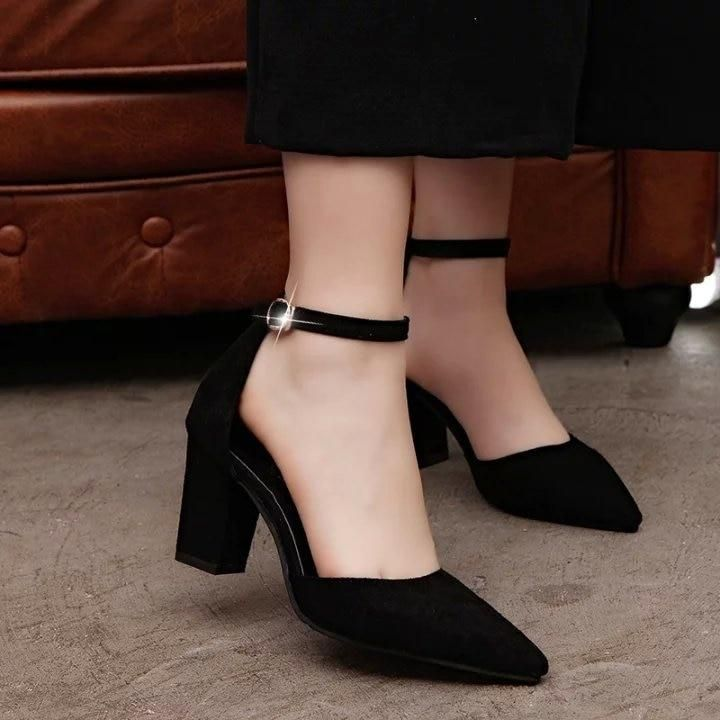 Thick, comfortable pumps with low heels
