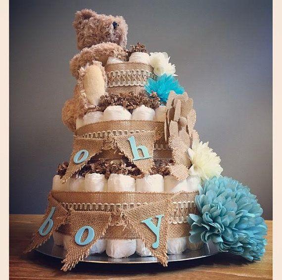Oh muchacho rústico pastel shabby chic pañal por JennyKnickDesigns