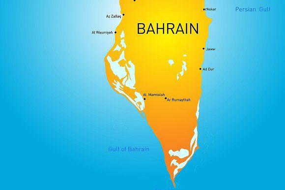 Kingdom of Bahrain Graphics Kingdom of Bahrain vector color map by Jan Jack Russo Media