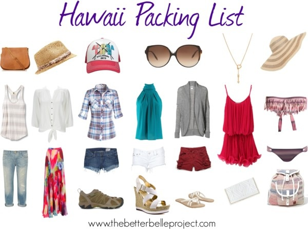 Hawaii Packing List - Items To Bring!