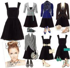 so many ways to wear a black dress