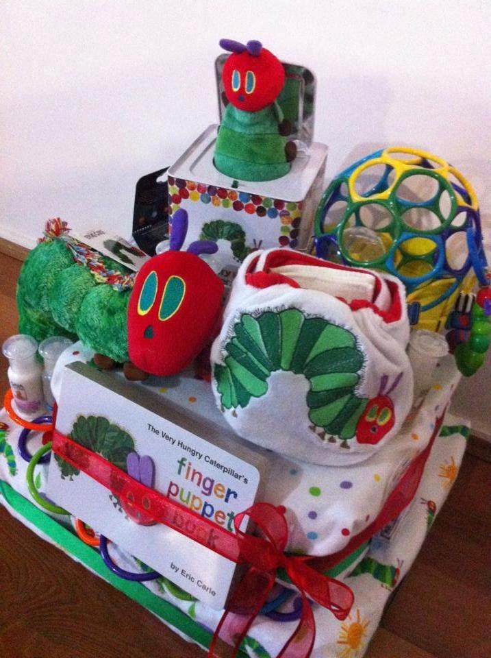 how to make a caterpillar diaper cake
