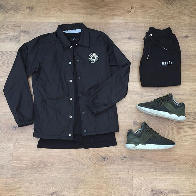 WEBSTA @ kylescropper - 'Sun don't shine in the shade' Carhartt Coach jacket Blood Brother teeBlood Brother joggers Adidas tubular runner S