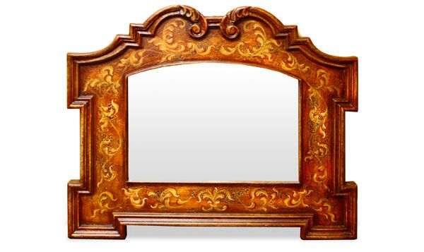 The Koenig Collection offers a diverse variety of decorative accessories and furniture. This mirror features intricate hand painted scrolls and a decorative hand crafted frame. See more of our high quality accessories at a www.KoenigCollection.com