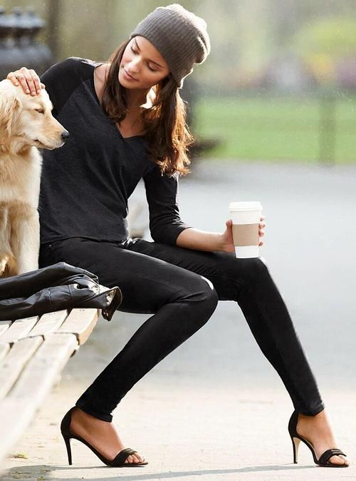 Rocking black with the best accessory - a puppy!