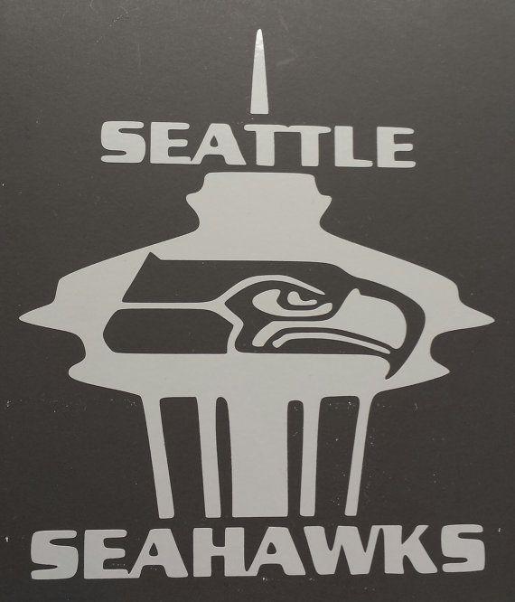 Seattle Seahawks Space Needle vinyl sticker