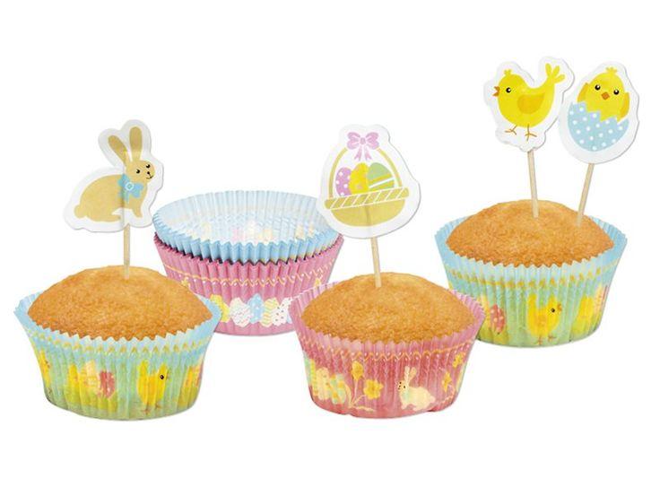 Tover je cupcakes eenvoudig om in paascupcakes door ze te bakken in papieren paascupcakevormpjes! Ziet er vrolijk en feestelijk uit, toch?