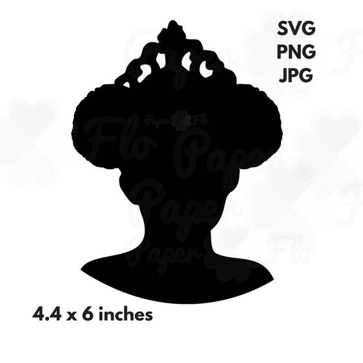 princess puffs svg Silhouette black princess cut file svg ...