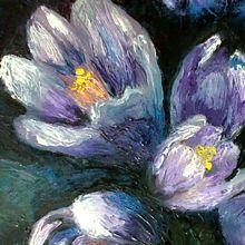 art flowers oil on canvas