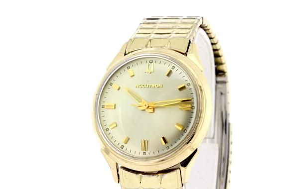 Bulova Accutron Stainless Steel And 10k Gold Filled Wrist Watch With Matching Buckle Bracelet Bulova Accutron Buckle Bracelet Bulova