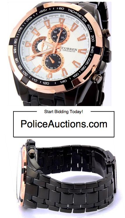 http://bit.ly/1RaUmES:CURREN Chronometer Tachymeter Style Mens Quartz Movement Designer Watch