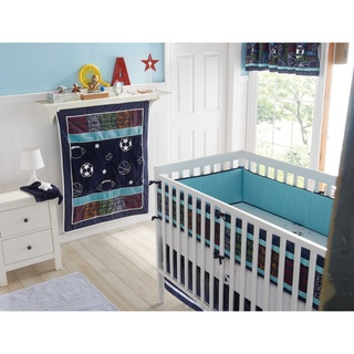 @Overstock - Send your little one off to sleep with big dreams with this Big Believers 'Athletic Department' crib set. The baby bedding features a timeless sports theme, and includes a quilt, fitted sheet, bedskirt, valance, and security blanket. http://www.overstock.com/Baby/Big-Believers-Athletic-Department-5-piece-Crib-Bedding-Set/7213554/product.html?CID=214117 CAD              109.53