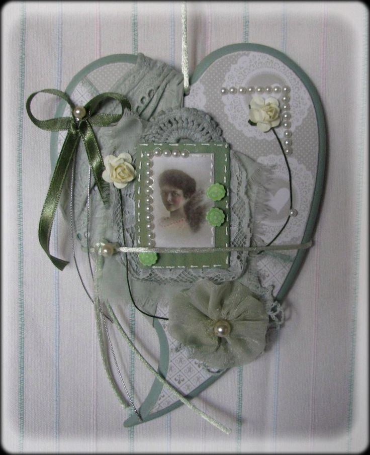 heart ,picture - shabby chic & scrapdecor