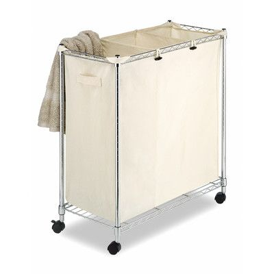 Best Of Rolling Laundry Cart with Hanging Bar
