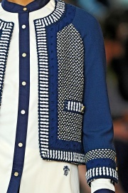 Details Blue and White — Tory Burch Spring 2012
