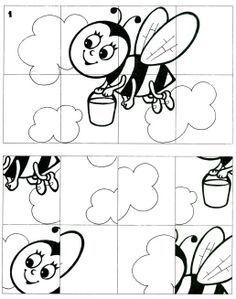 Kleuren, plastificeren, puzzelen. TIP: activiteit puzzel maak hem zelf moeilijker!