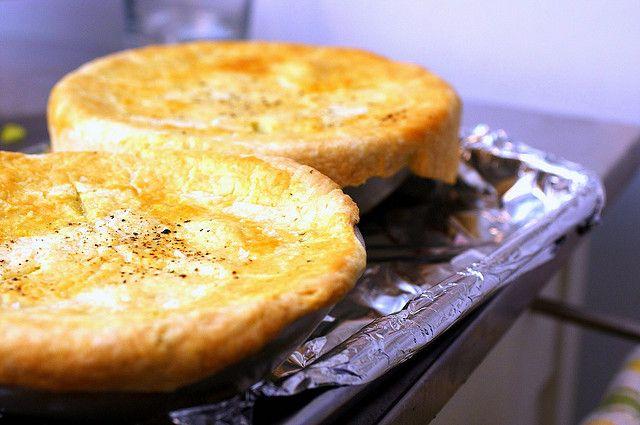 Ina Garten's Chicken Pot Pie recipe, and I used the Martha Stewart Favorite Pie Crust...