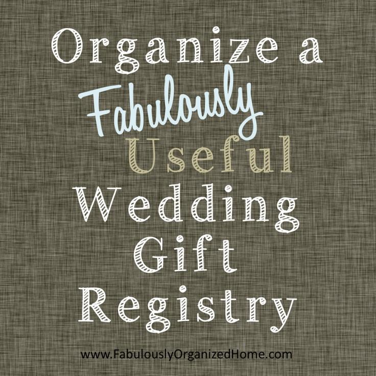 Wedding Gift Register: Cute Wedding Ideas
