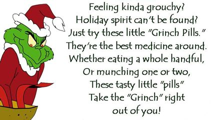 It's just a picture of Old Fashioned Grinch Pills Free Printable