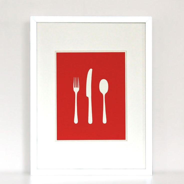 Dinner for one - Fork, knife, spoon
