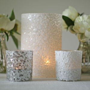 Sequin Candle Holders And Vases - christmas parties & entertaining