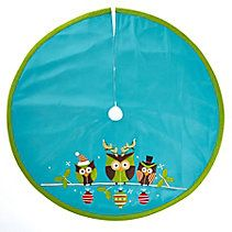 Holiday Collections Owl Tree Skirt, 48-in