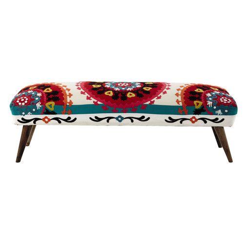 Bettbank aus Baumwolle, B 119cm, mehrfarbig mit Stickerei 199 EUR