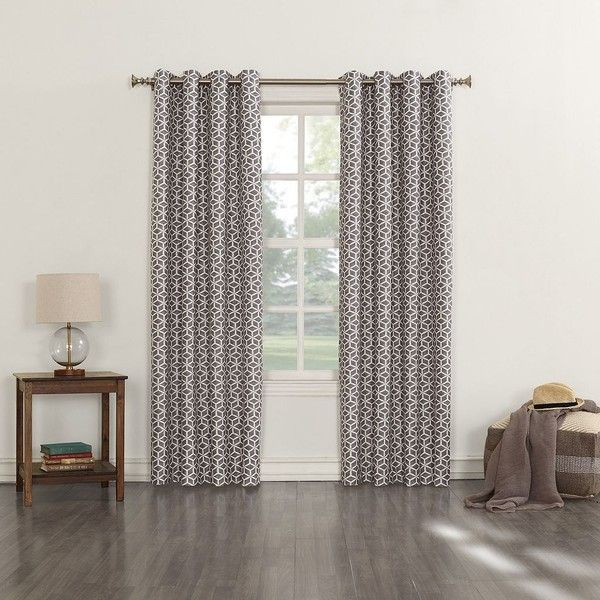 Sun Zero Savage Curtain (£29) ❤ liked on Polyvore featuring home, home decor, window treatments, curtains, grey, gray grommet curtains, grommet thermal curtains, grey thermal curtains, grommet window treatments and thermal window treatments