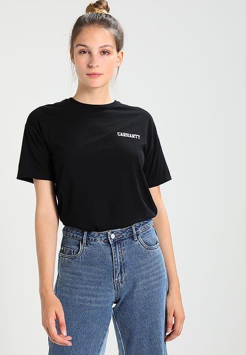 Kleding Carhartt WIP COLLEGE SCRIPT  - T-shirt print - black / white  Zwart: € 28,95 Bij Zalando (op 10/09/17). Gratis verzending & retournering, geen minimum bestelwaarde en 100 dagen retourrecht!